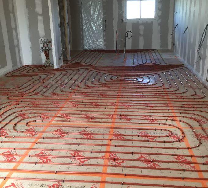 Installation de plancher chauffant à Niort